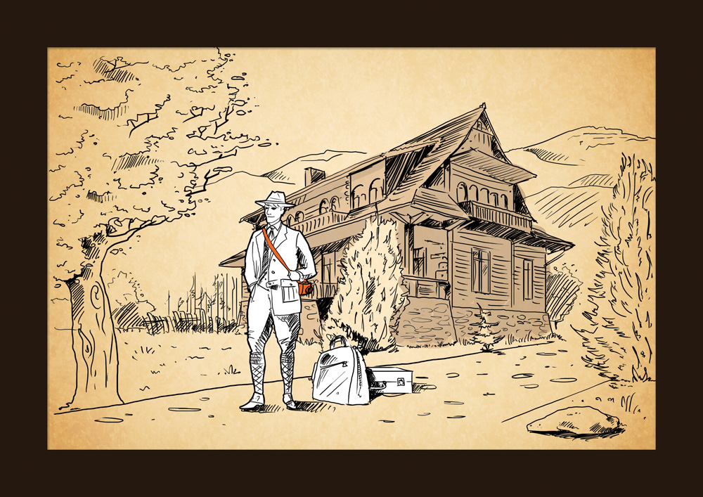 Ilustrowana podróż Witkacego w tropiki - odcinek pierwszy - Witkacy wyrusza w podróż
