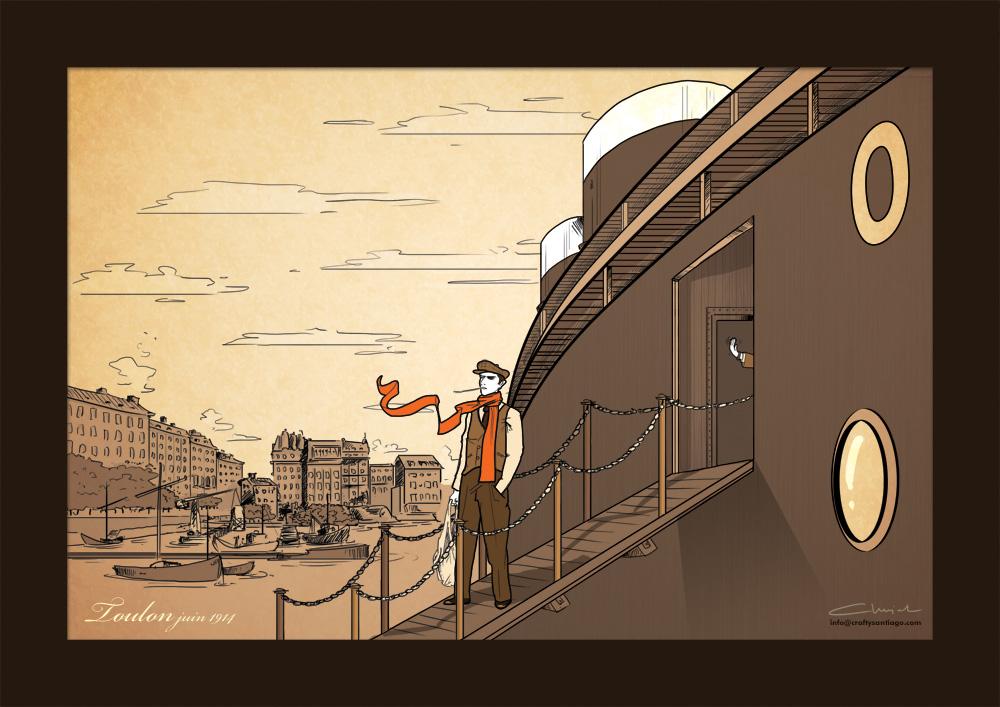Ilustrowana podróż Witkacego w tropiki - odcinek trzeci - Witkacy w Tulonie