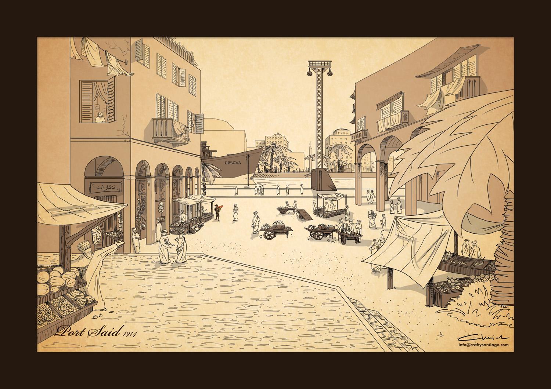Ilustrowana podróż Witkacego w tropiki - odcinek trzeci - Witkacy w Port Said