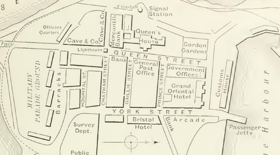 Mapa Fortu z początku XX wieku - z niej korzystał Witkacy