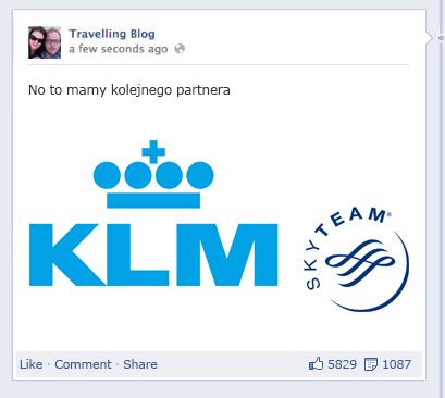 Współpraca z KLM