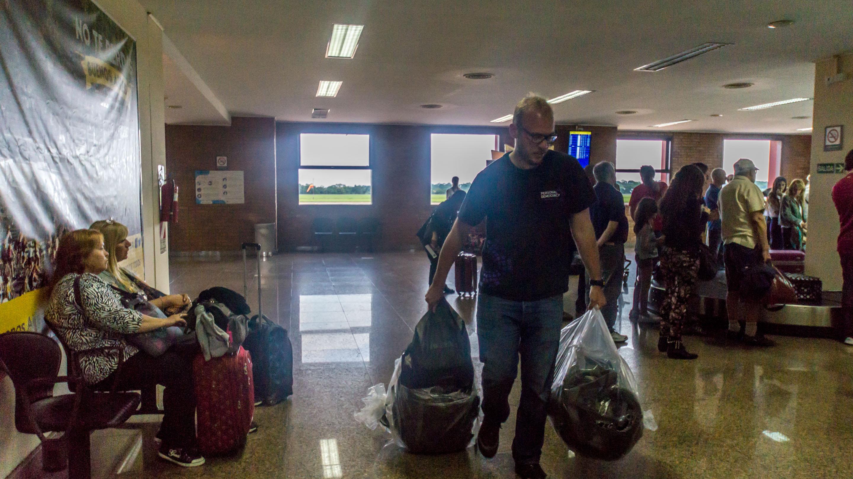 Po raz pierwszy plecaki musieliśmy pakować w takie plastikowe torby