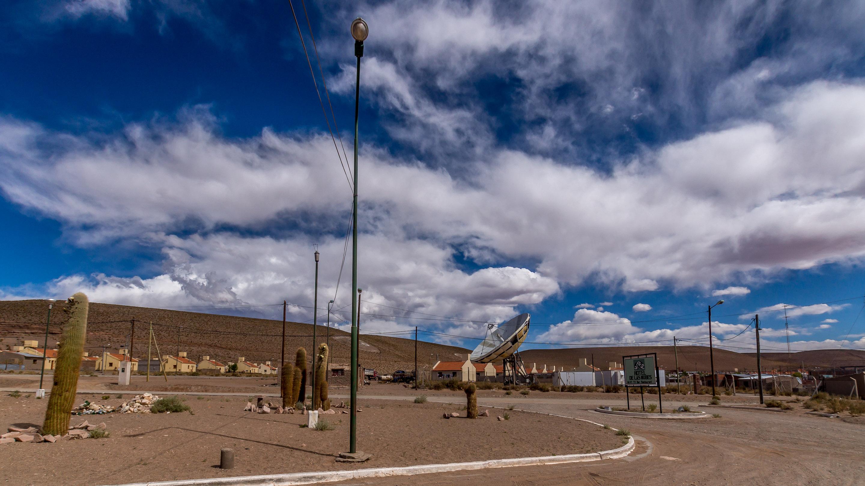 Mega antena w środku miasta