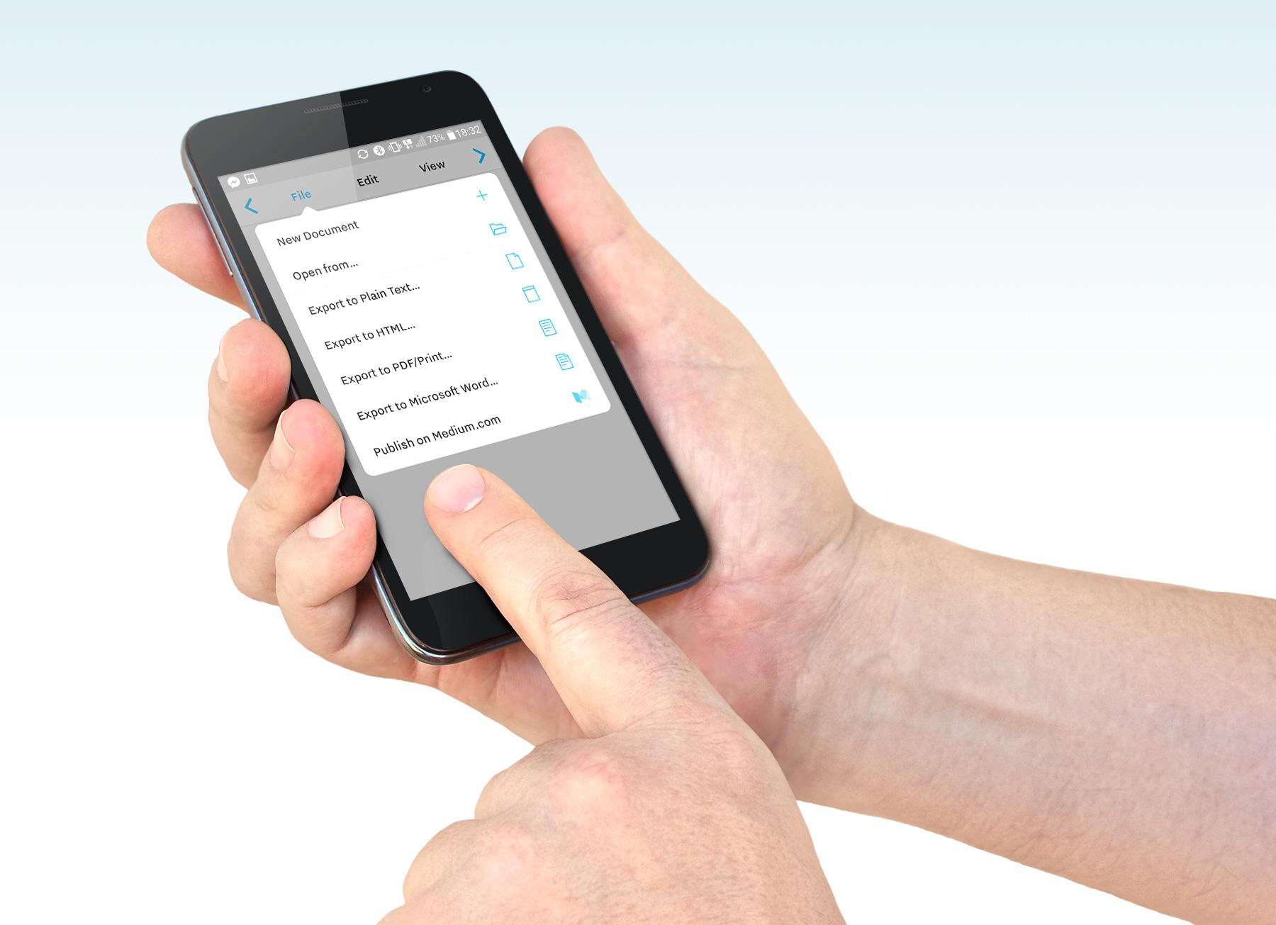 iA Writer - edytor tekstu iOS Android