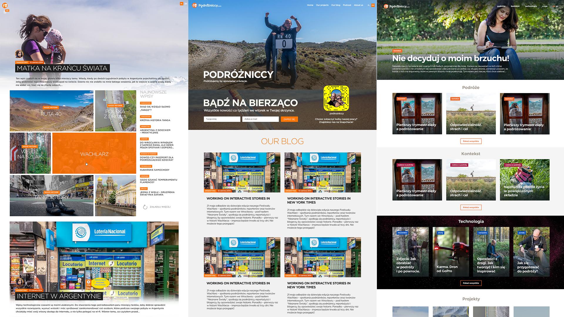 Nowy szablon bloga - Podrozniccy. Historyczne layouty. Zmiany wersji.